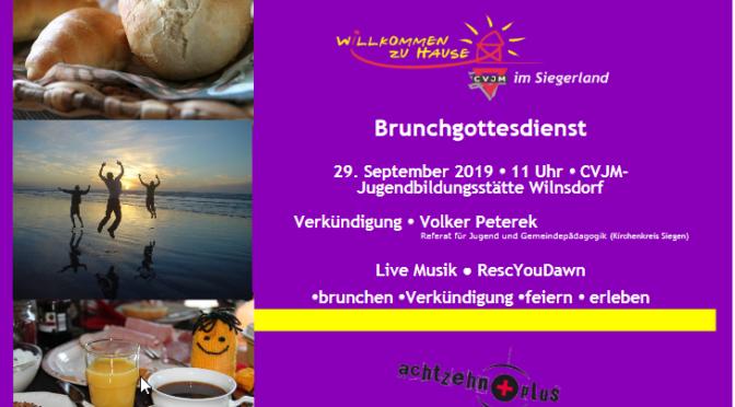 Flyer des Brunchgottesdienstes am 29.September 2019in der Jugendbildungsstätte Siegerland in Wilgersdorf