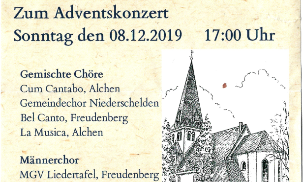 Adventskonzert Kirch Oberholzklau 2019