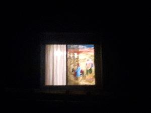 Fensterbild in Alchen mit Maria und Josef