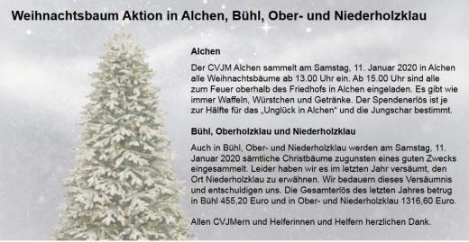 Weihnachtsbaumaktion in Alchen 2020