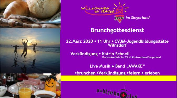 Handzettel des Gottesdiensts mit Frühstück am 22.März 2020