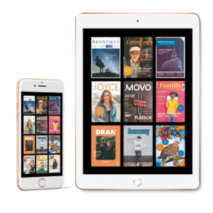 Smartphone und Tablet mit digitalen Zeitschriften des SCM verlages