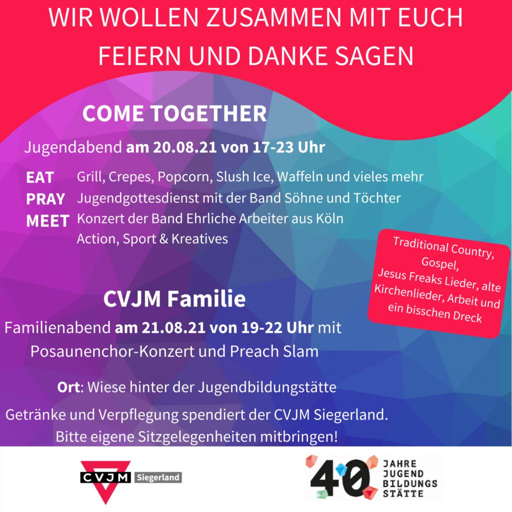 Details zum Danke Abend des CVJM Kreisverbands Siegerland