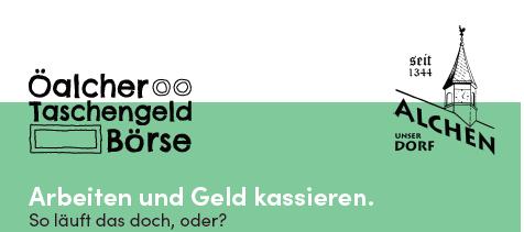 Öalcher Taschengeldbörse – Wer macht mit?